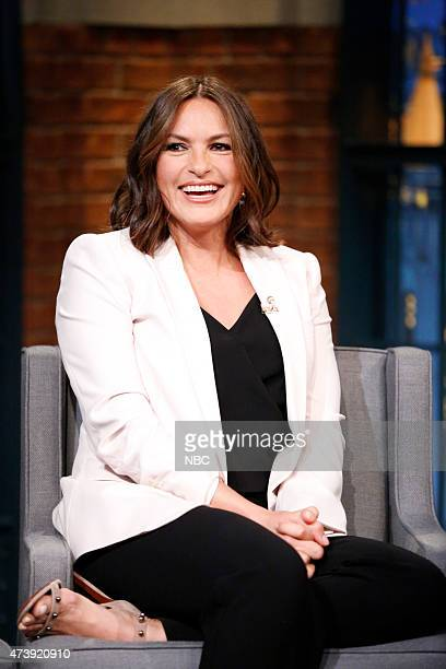 Actress Mariska Hargitay during an interview on May 18 2015