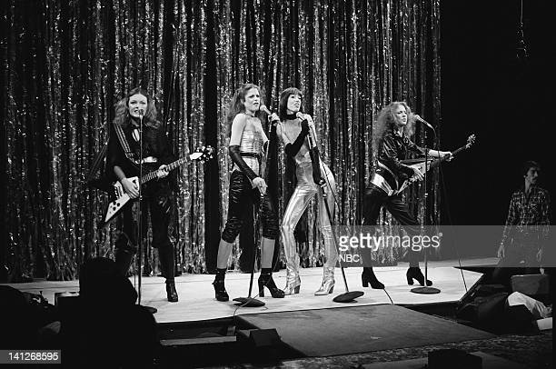 Episode 21 -- Pictured: Jane Curtin, Gilda Radner, Shelley Duvall, Laraine Newman during the 'Video Vixens' skit on May 14, 1977 -- Photo by: NBCU...