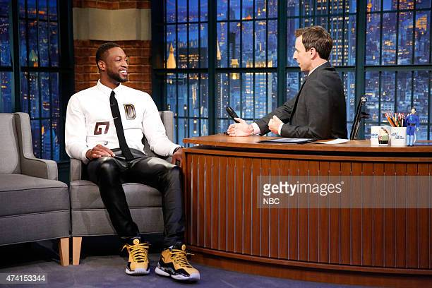 Dwyane Wade from the Miami Heat during an interview with host Seth Meyers on May 20 2015