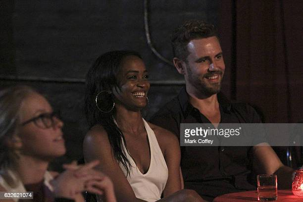 THE BACHELOR 'Episode 2105' A vicious argument between Corinne and Taylor rages on just before the rose ceremony in Wisconsin When the dust settles...
