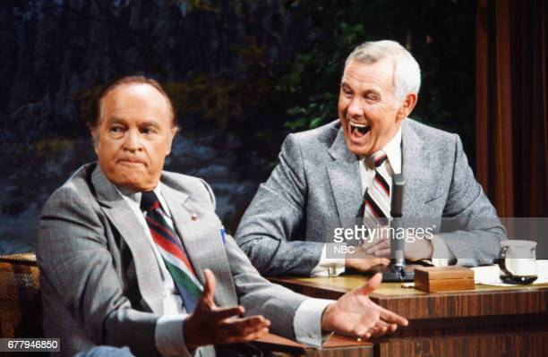 CARSON Episode 2/1/1980 Pictured Actor/comedian Bob Hope host Johnny Carson Photo by Paul Drinkwater/NBC/NBCU Photo Bank via Getty Images