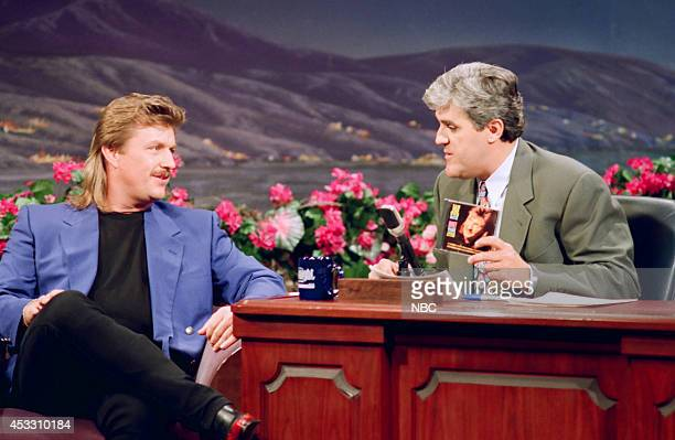 Episode 212 -- Pictured: Muscal guest Joe Diffie during an interview with host Jay Leno on March 27, 1993 --