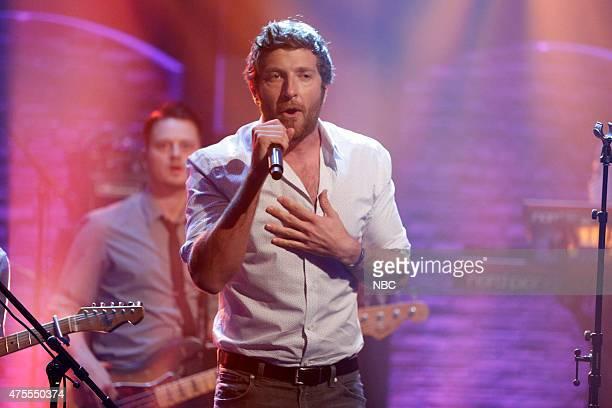Musical guest Brett Eldredge performs on June 1 2015
