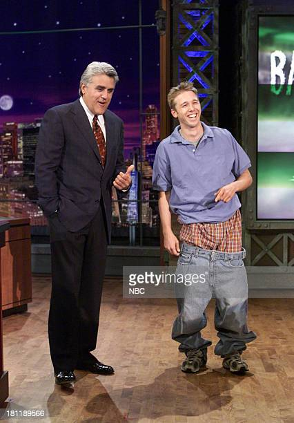 Host Jay Leno during the 'Back To School Products' segment on September 07 2001