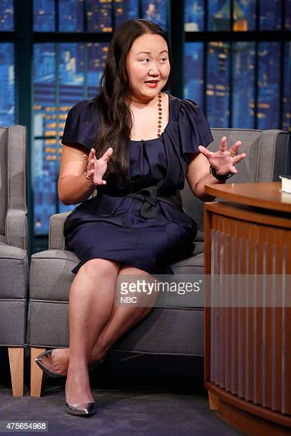 Author Hanya Yanagihara during an interview on June 2 2015