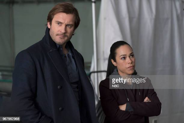 Episode 213 -- Pictured: Clive Standen as Bryan Mills, Jessica Camacho as Santana --