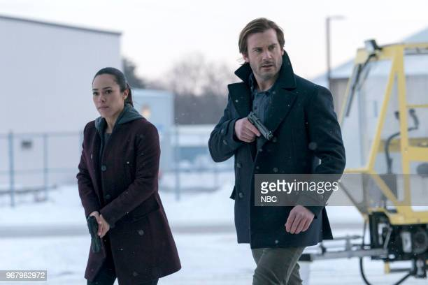 Episode 213 -- Pictured: Jessica Camacho as Santana, Clive Standen as Bryan Mills --