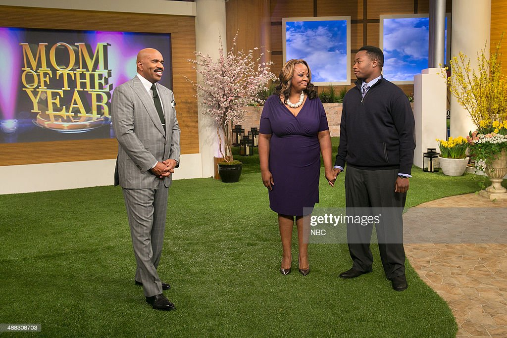 Steve Harvey, Felicia Williams and son Terrance --
