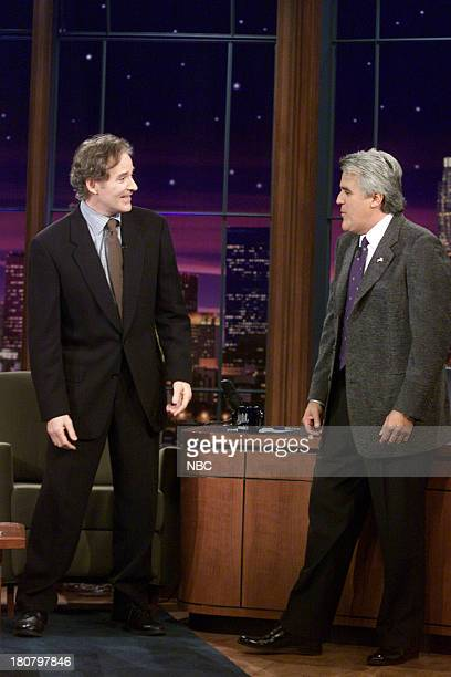 Actor Kevin Kline during an interview with host Jay Leno on November 07 2001