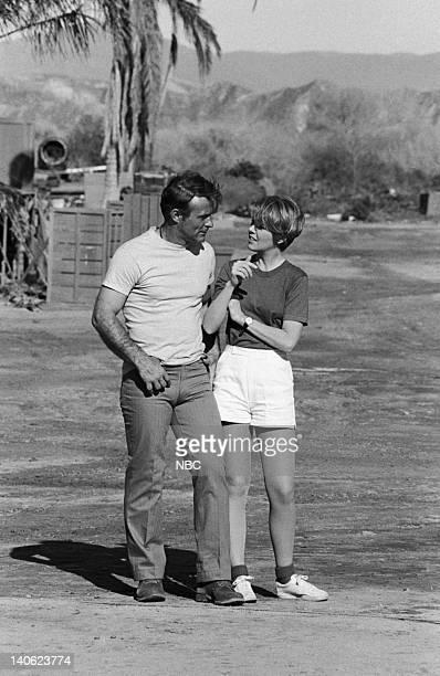 SHEEP W*A*S*P*S Episode 22 Aired 3/1/77 Pictured Robert Conrad as Maj Greg 'Pappy' Boyington Andi Garrett as Major Deborah Watkins Photo by NBCU...