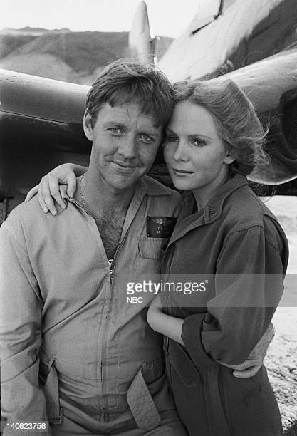 SHEEP W*A*S*P*S Episode 22 Aired 3/1/77 Pictured Robert Ginty as Lt TJ Wiley Laurie Prange as Shirley Photo by NBCU Photo Bank