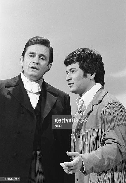 HALL Episode 22 Aired 4/16/69 Pictured Johnny Cash Don Ho Photo by NBCU Photo Bank
