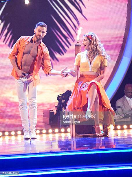 STARS 'Episode 2202 The 12 celebrities ready themselves for Latin Night one of the hottest nights in the ballroom with each celebrity performing...