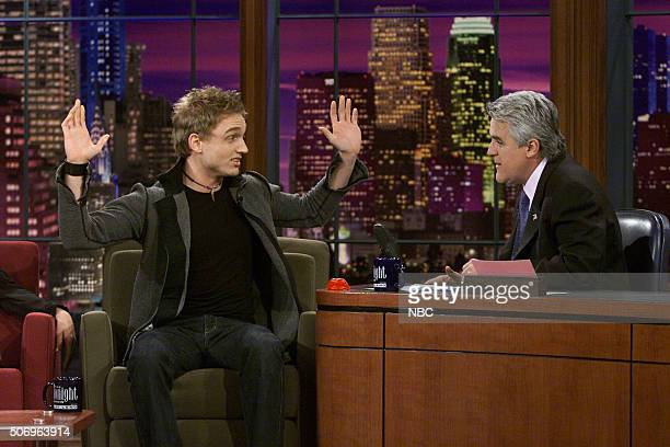 Actor Ben Curtis during an interview with host Jay Leno on March 7 2002