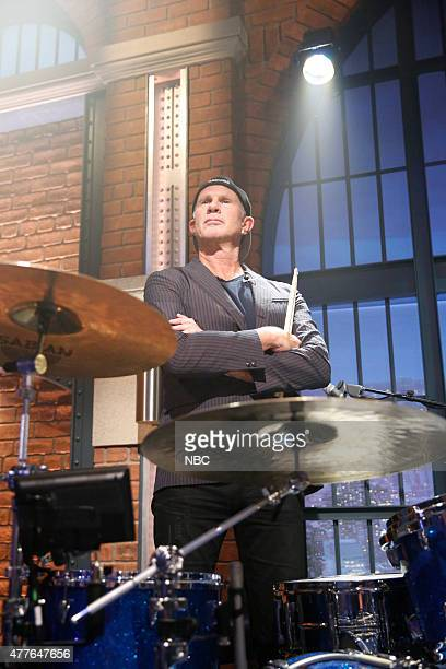 Episode 223 -- Pictured: Chad Smith of The Red Hot Chili Peppers performs with the 8G band on June 18, 2015 --