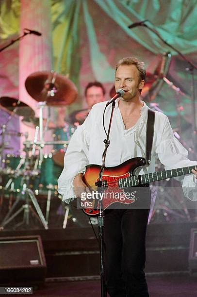 Musical guest Sting performs on May 13 1993