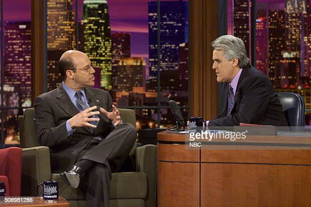 Former White House Press Secretary Ari Fleischer during an interview with host Jay Leno on April 29 2002