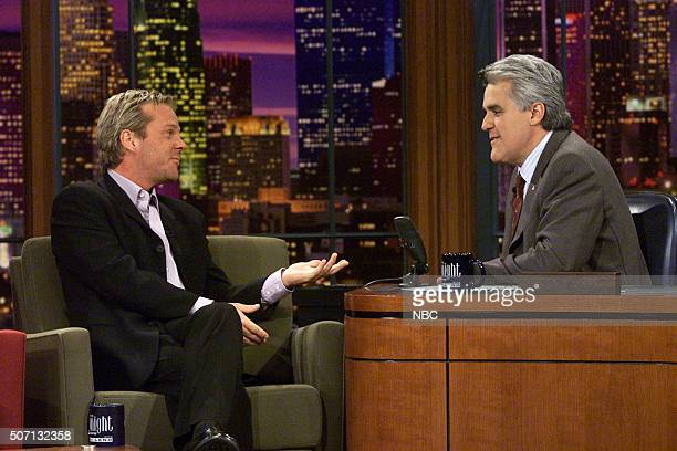 Actor Kiefer Sutherland during an interview with host Jay Leno on May 9 2002