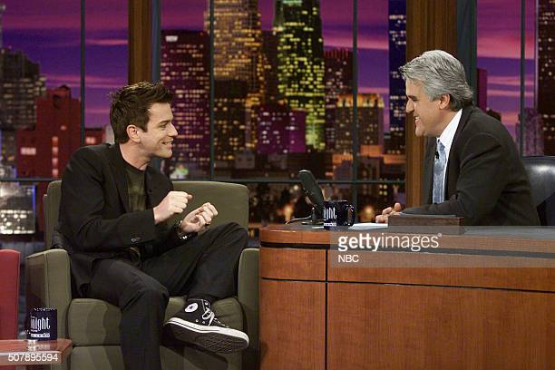 Actor Ewan McGregor during an interview with host Jay Leno on May 16 2002