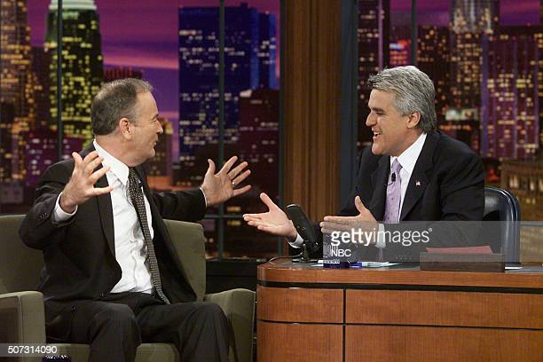 Episode 2270 -- Pictured: TV Host Bill O'Reilly during an interview with host Jay Leno on May 20, 2002 --