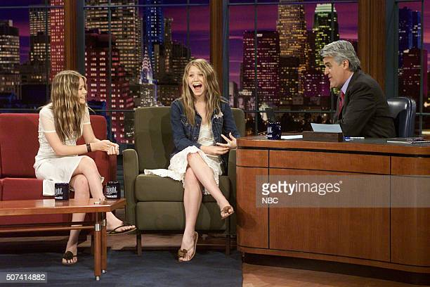 Actresses MaryKate Ashley Olsen during an interview with host Jay Leno on June 11 2002