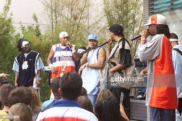 Rapper Nelly performs on June 28 2002