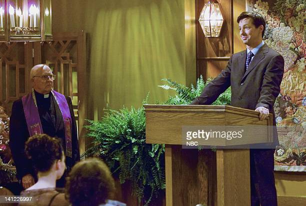 Episode 23 -- Air Date -- Pictured: Hansford Rowe as Minister, Sean Hayes as Jack McFarland -- Photo by: NBCU Photo Bank