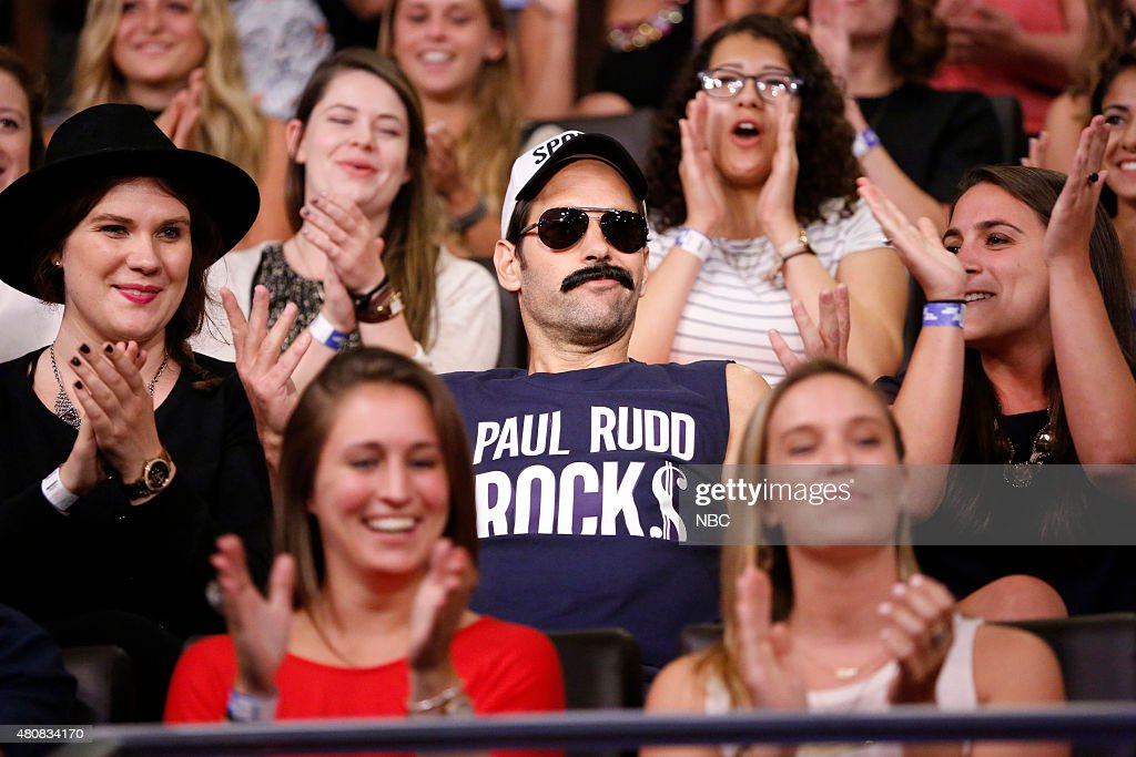 Actor Paul Rudd during a skit on July 15, 2015 --