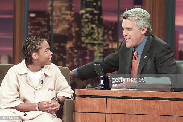 Rapper Bow Wow during an interview with host Jay Leno on July 18 2002