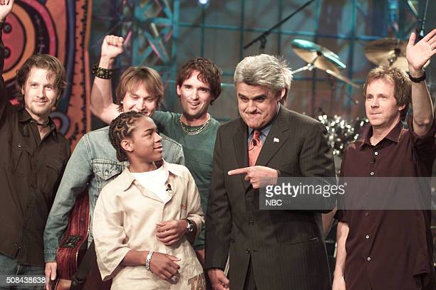 Rapper Bow Wow host Jay Leno and actor Dana Carvey on July 18 2002