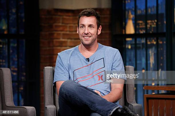 Comedian Adam Sandler during an interview on July 20 2015