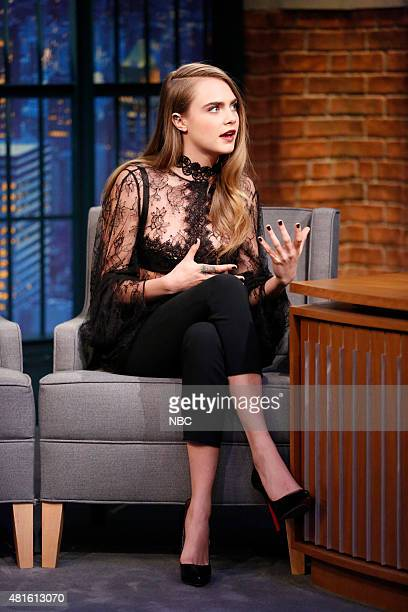 Model Cara Delevingne during an interview on July 22 2015
