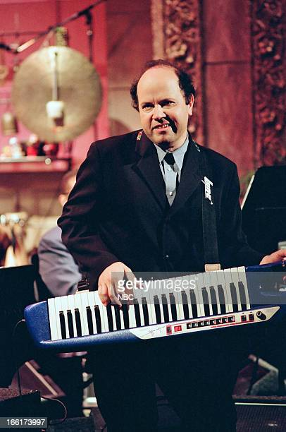 Episode 234 -- Pictured: Music composer Jan Hammer performs with The Tonight Show Band on May 27, 1993--