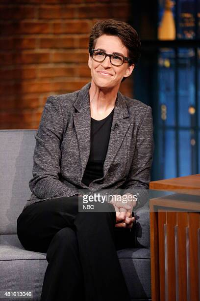 TV personality Rachel Maddow during an interview on July 22 2015