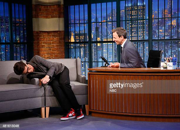 TV personality Rachel Maddow during an interview with host Seth Meyers on July 22 2015