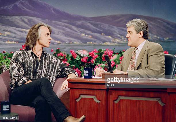 Musical guest Hal Ketchum during an interview with host Jay Leno on May 31 1993