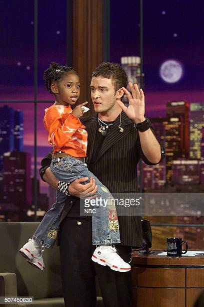 Singer Jamia Simone Nash and singer Justin Timberlake on October 31 2002