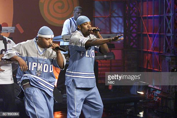 Rappers Spliff Star and Busta Rhymes perform on November 18 2002