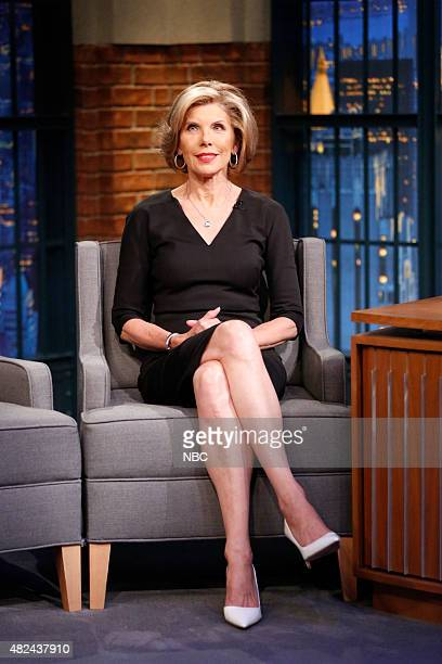 Actress Christine Baranski during an interview on July 30 2015