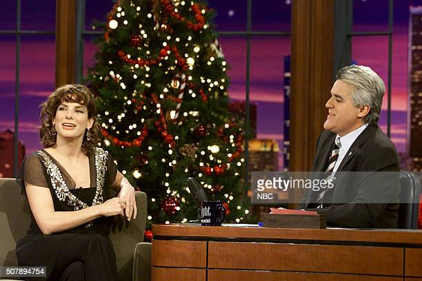 Actress Sandra Bullock during an interview with host Jay Leno on December 19 2002