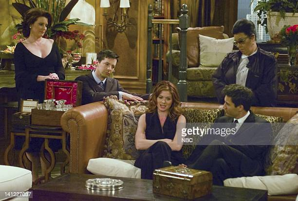 WILL GRACE '24' Episode 24 Air Date Pictured Megan Mullally as Karen Walker Sean Hayes as Jack McFarland Debra Messing as Grace Adler Shelley...