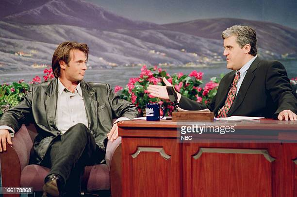 Actor James Wilder during an interview with host Jay Leno on June 4 1993
