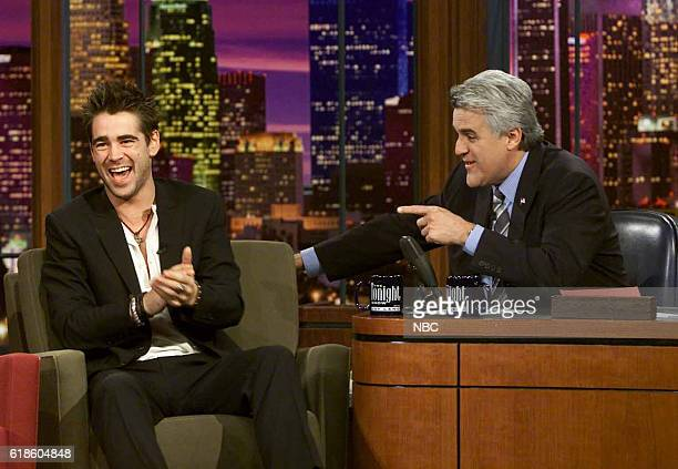 Actor Colin Farrell during an interview with host Jay Leno on January 28 2003