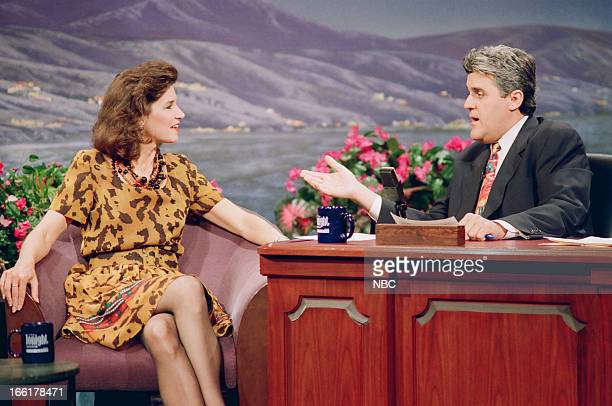 Political consultant Mary Matalin during an interview with host Jay Leno on June 8 1993