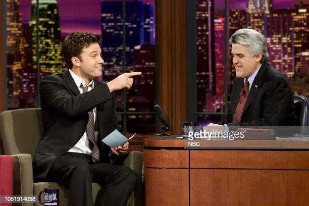 Actor Ben Affleck during an interview with host Jay Leno on February 11 2003