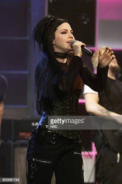 Musical guest Amy Lee of Evanescence performs on March 6 2003