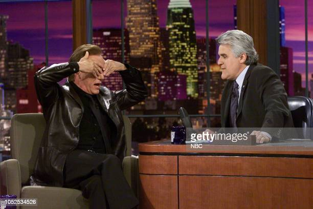 Episode 2455 -- Pictured: Actor James Woods during an interview with host Jay Leno on March 27, 2003 --