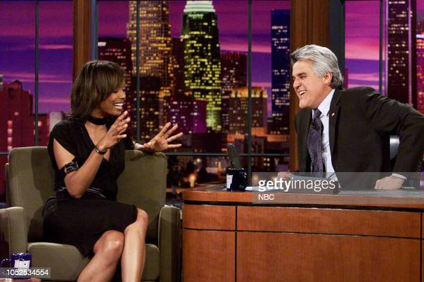 Actress Aisha Tyler during an interview with host Jay Leno on March 27 2003