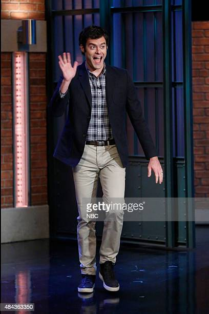 Actor Bill Hader arrives on August 17 2015