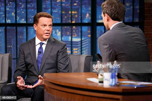 Fox New's Shepard Smith during an interview with host Seth Meyers on August 17 2015